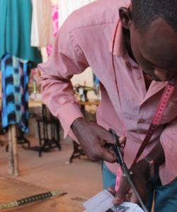Somali refugee tailoring
