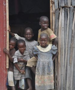 JRS students smile at the camera in the Democratic Republic of Congo