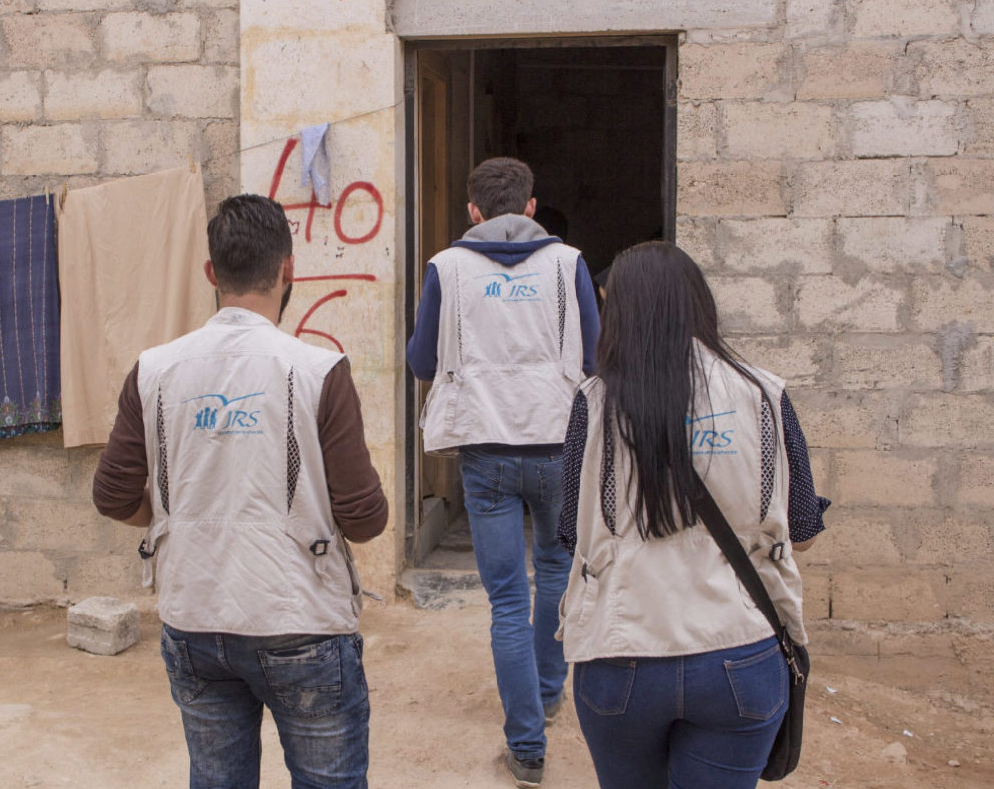 JRS staff in Jibreen, Syria.