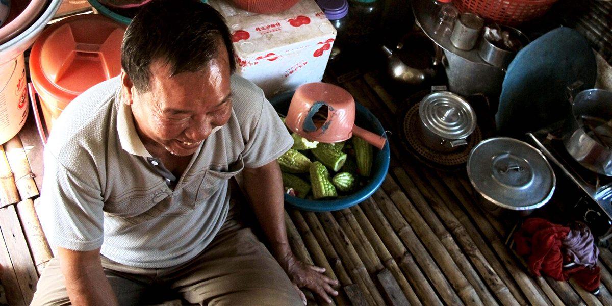 Un réfugié vietnamien au Cambodge.