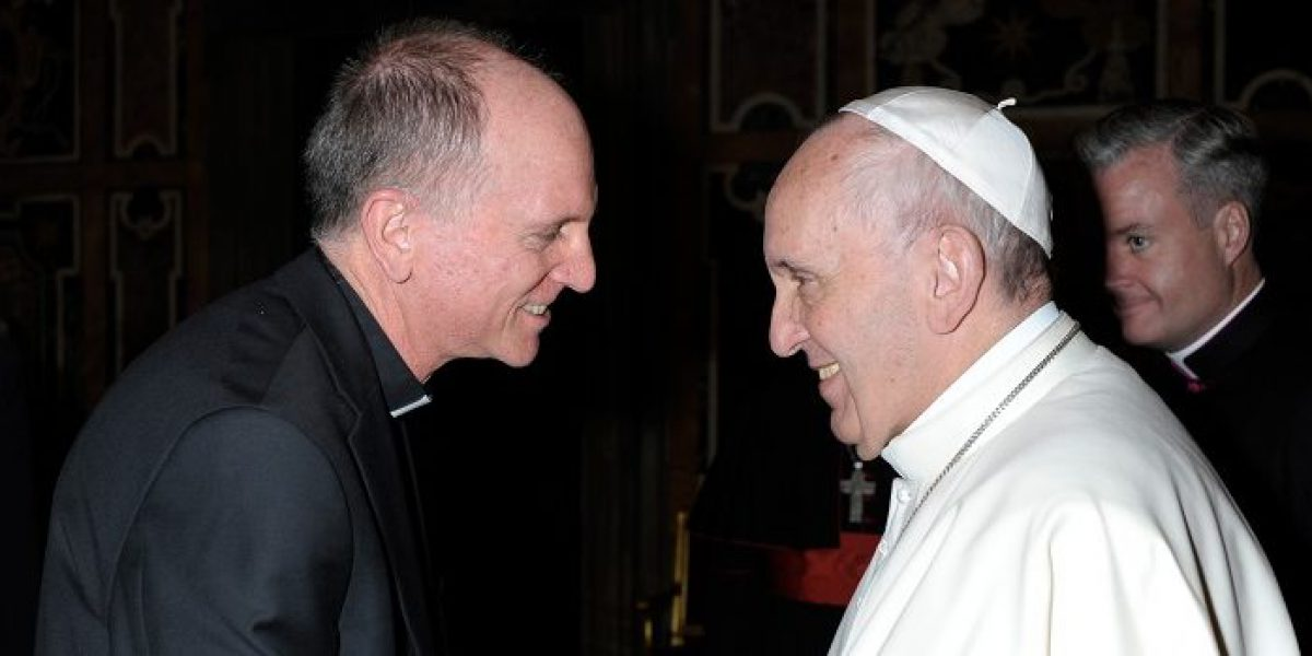 Fr Thomas Smolich SJ, International Director of JRS, meets Pope Francis