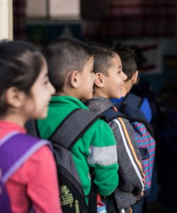 Children going to school at the JRS FVDL Centre in Bourj Hammoud, Lebanon.