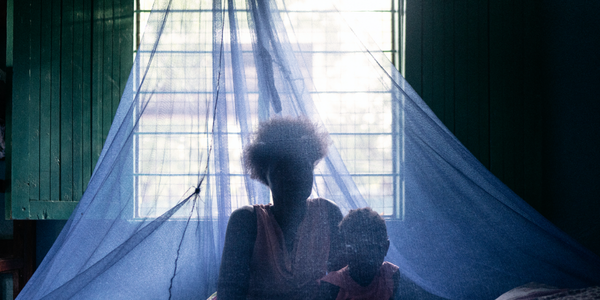 A mother and daughter rest in their room in the JRS Safe Haven. (Photo: Fredrik Lerneryd)