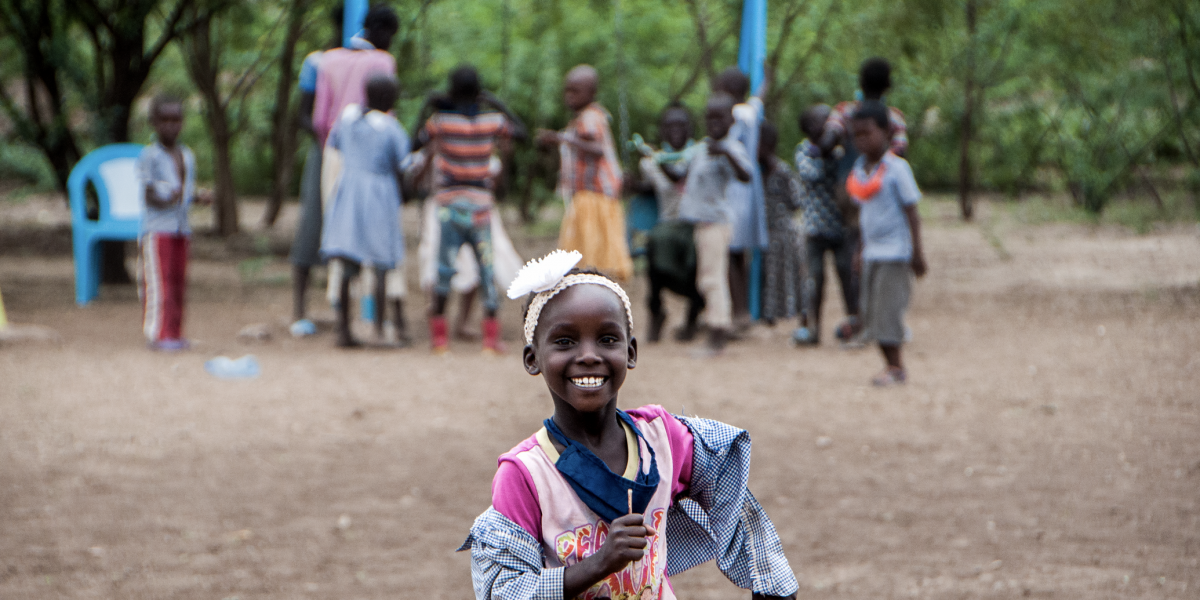 A refugee girl at one of JRS Kenya Inclusive Education Centres in Kakuma refugee camp.