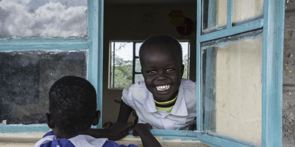 Refugee children at one of JRS Kenya Inclusive Education Centres in Kakuma refugee camp.