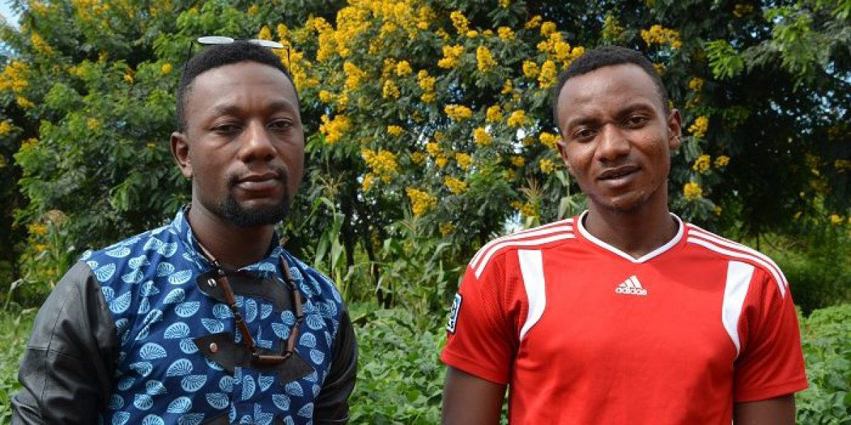 Alain and Toussaint work to support youth in their community.