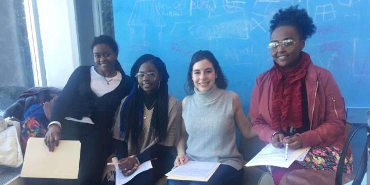 Camille (Second from left) is a Fairfield University student who works to give local refugee youth an opportunity to just be regular American teenagers.