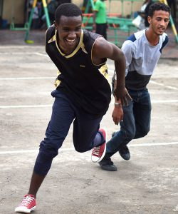Refugees play sport in the JRS centre in Addis Abeba, Ethiopia