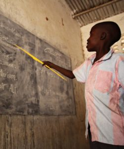 Refugee student attending classes in Chad