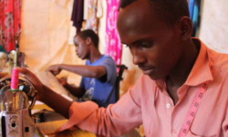 Somali refugees learn tailoring skills as part of a JRS livelihood project in Melkadida refugee camp.