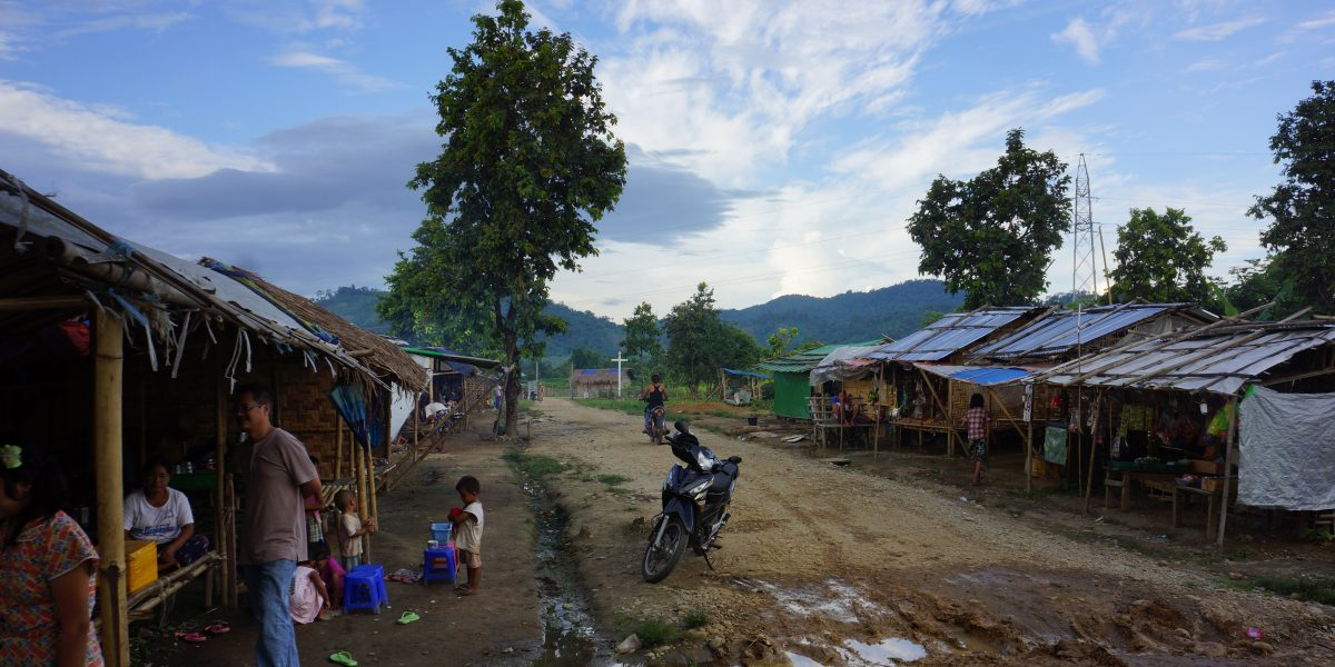 IDP camp in Kachin State, Myanmar.