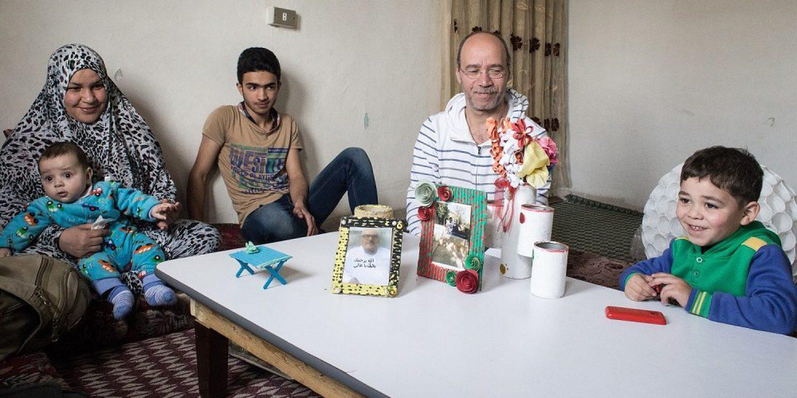 Muhamed et sa famille à Amman.