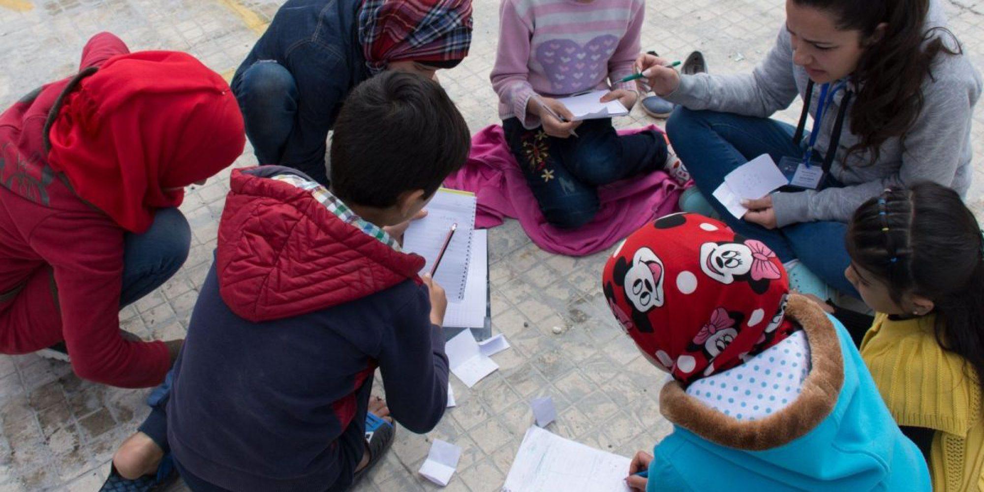 Programas educativos del JRS en Al Sakour, Siria.