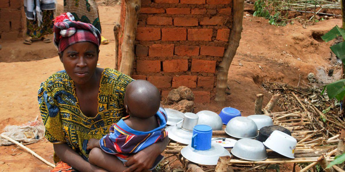 Refugee woman in burundi