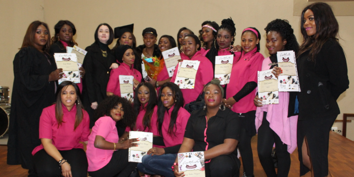 Graduates from the Pretoria Skill Centre celebrate their achievement.