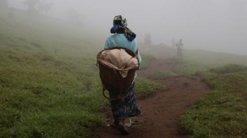 Una mujer desplazada internamente en Masisi, Kivu Norte, RDC.
