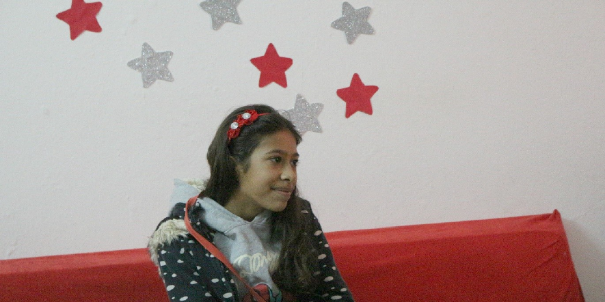 Nour at the JRS Centre in Kafroun, Syria