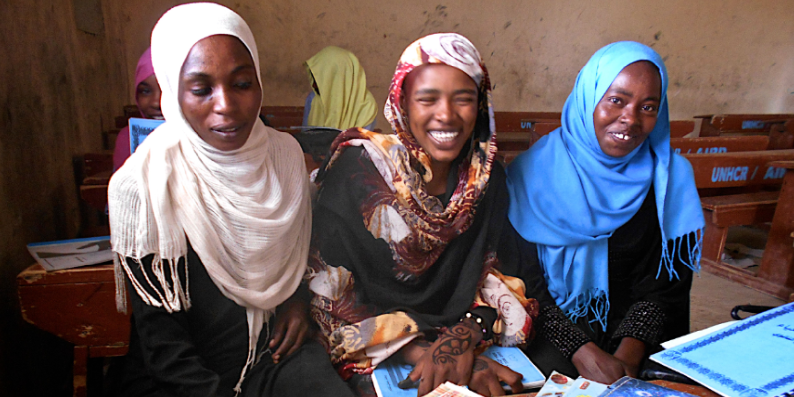 Education programmes in Chad encourage young women to stay in school.