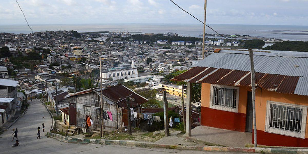 Esmeraldas, Ecuador, town that borders Colombia on the Pacific coast.