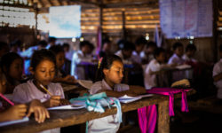 Children attending JRS classes in Kachin State, Myanmar. (Denis Bosnic/Jesuit Refugee Service)