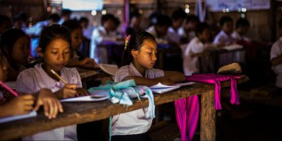 Children attending JRS classes in Kachin State, Myanmar. (Denis Bosnic/Jesuit Refugee Service)