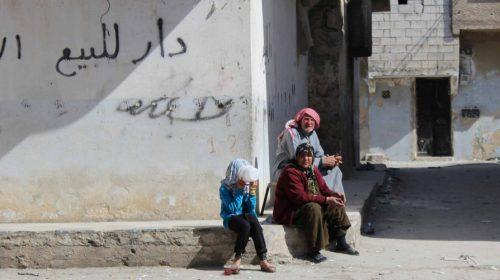Streets of Al Sakhour, Aleppo, Syria.
