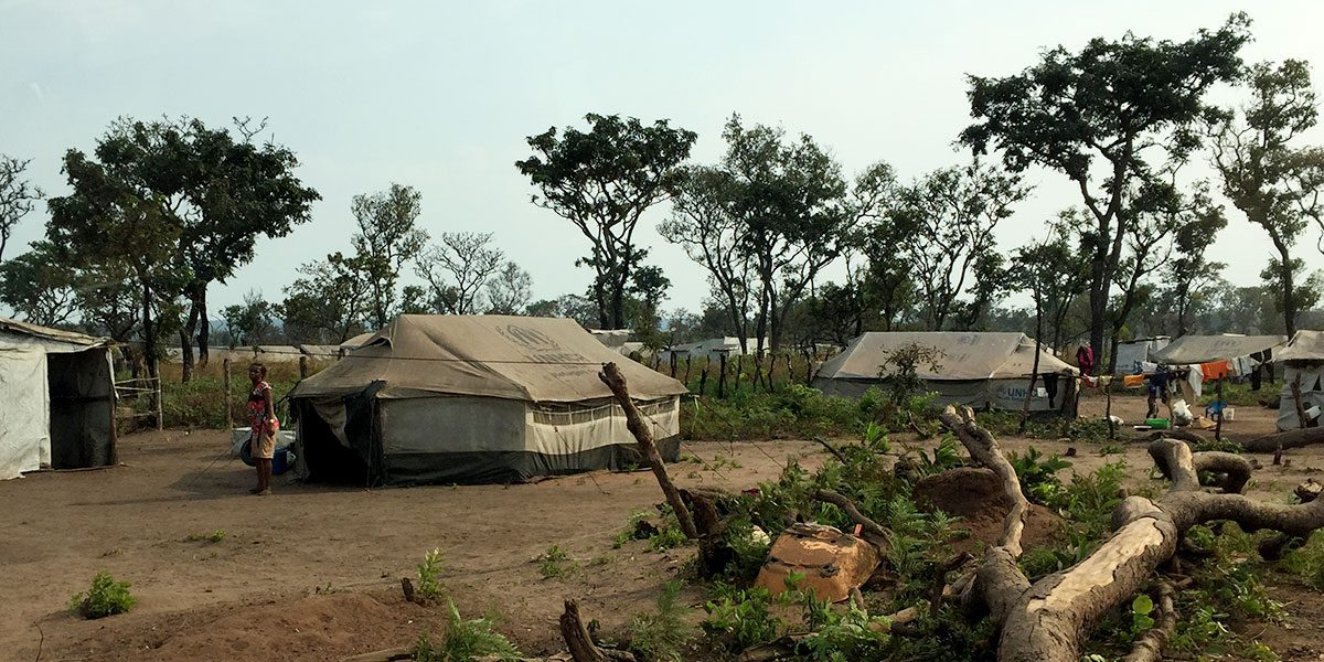 Refugee camp in Luvua, Lunda Norte, Angola.