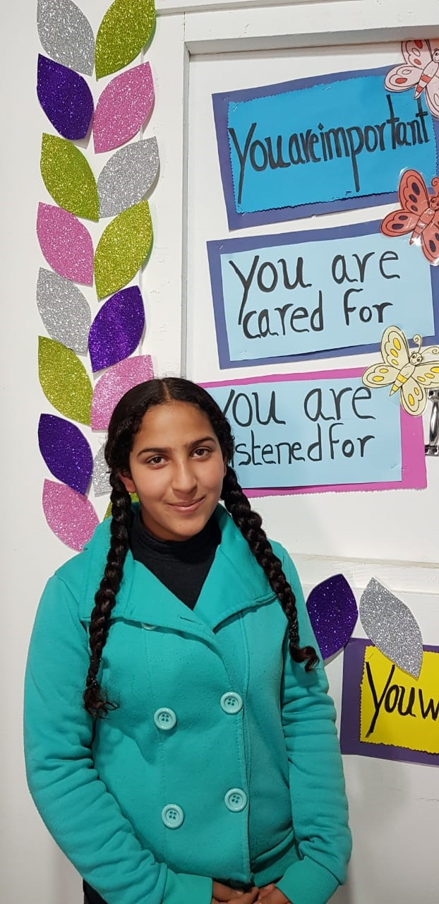 Nour is a student at the JRS Telyani School in Bar Elias. (Jesuit Refugee Service)