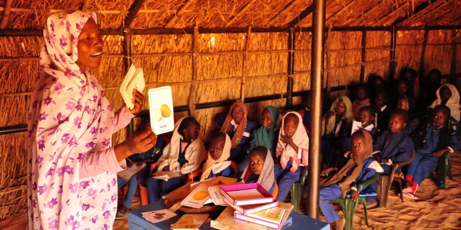 Young girls study in class (Jesuit Refugee Service)