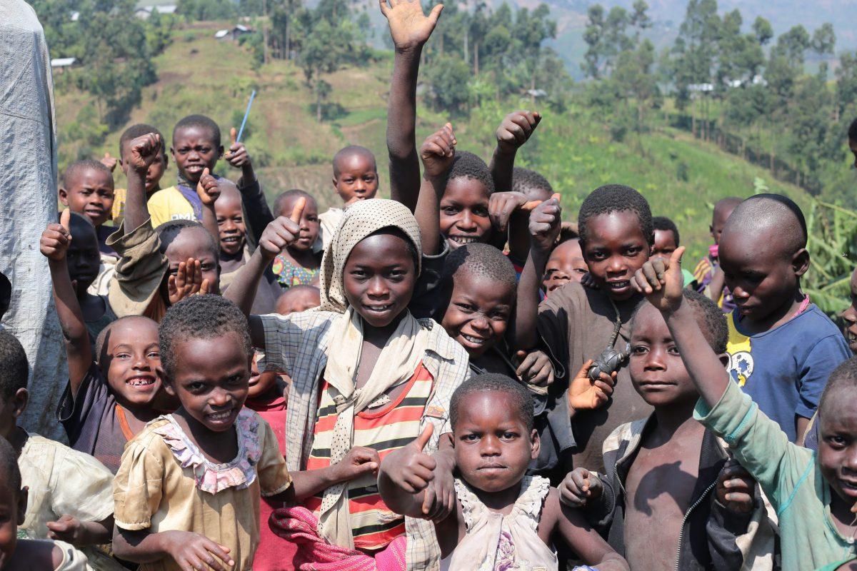 Children at a camp in Masisi, DRC (Sergi Camara/Jesuit Refugee Service)