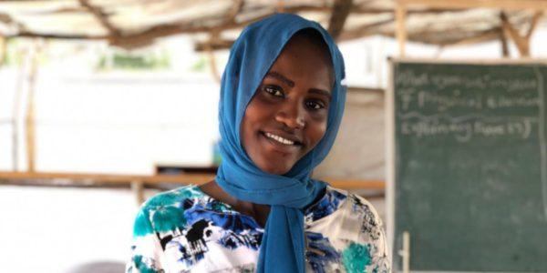 Basamat Osman Atom, de la région du Nil bleu au Soudan, est en formation pour devenir enseignante avec le soutien de JRS à Maban, au Soudan du Sud. (Service Jésuite des Réfugiés)