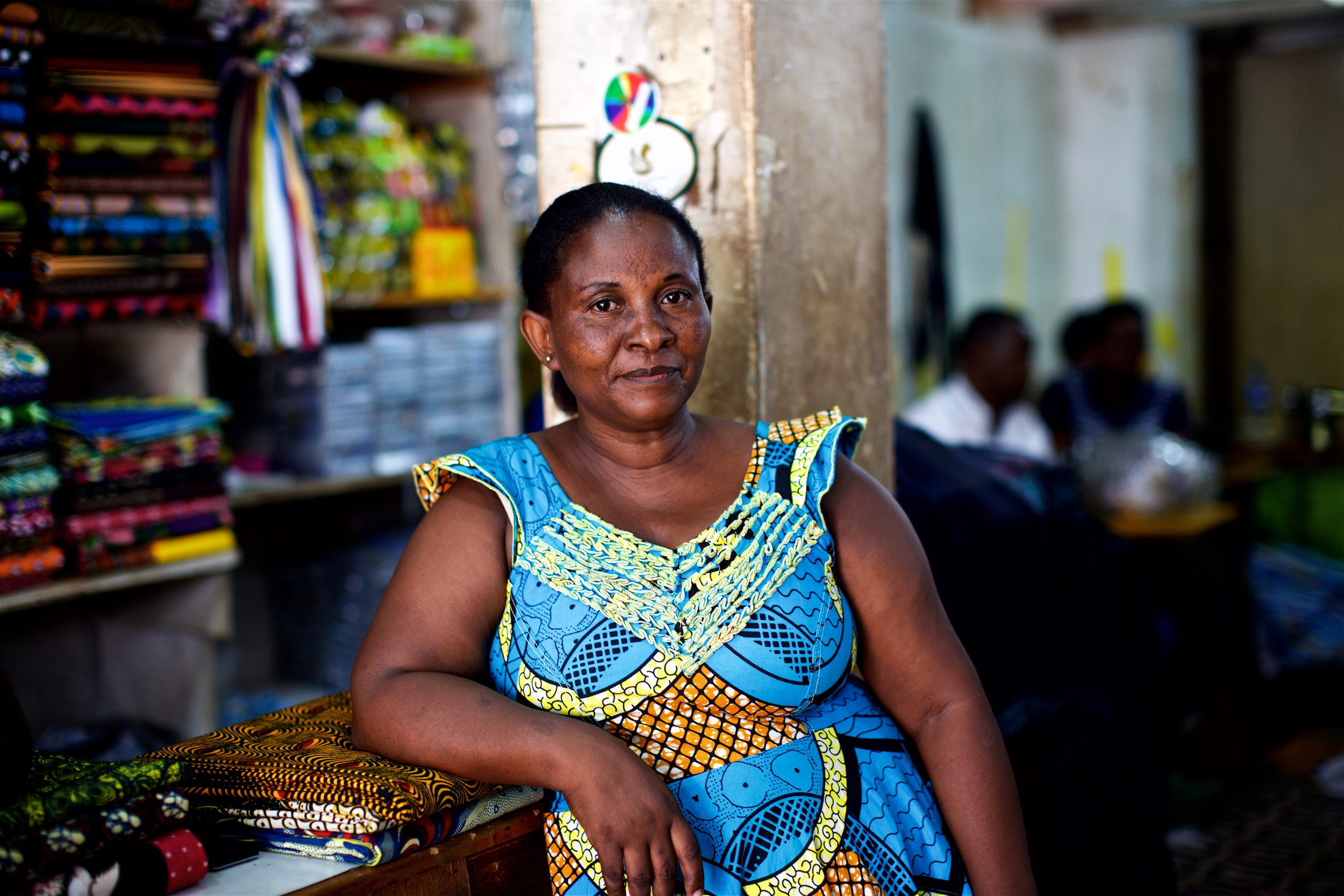 After graduating from JRS business class, Jeannette was granted a small no-interest loan from JRS. She now runs her own business in Kampala, Uganda. (Denis Bosnic/JRS)