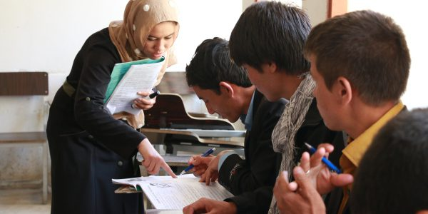 Students are taught in a primary school class in Afghanistan. (Jesuit Refugee Service)