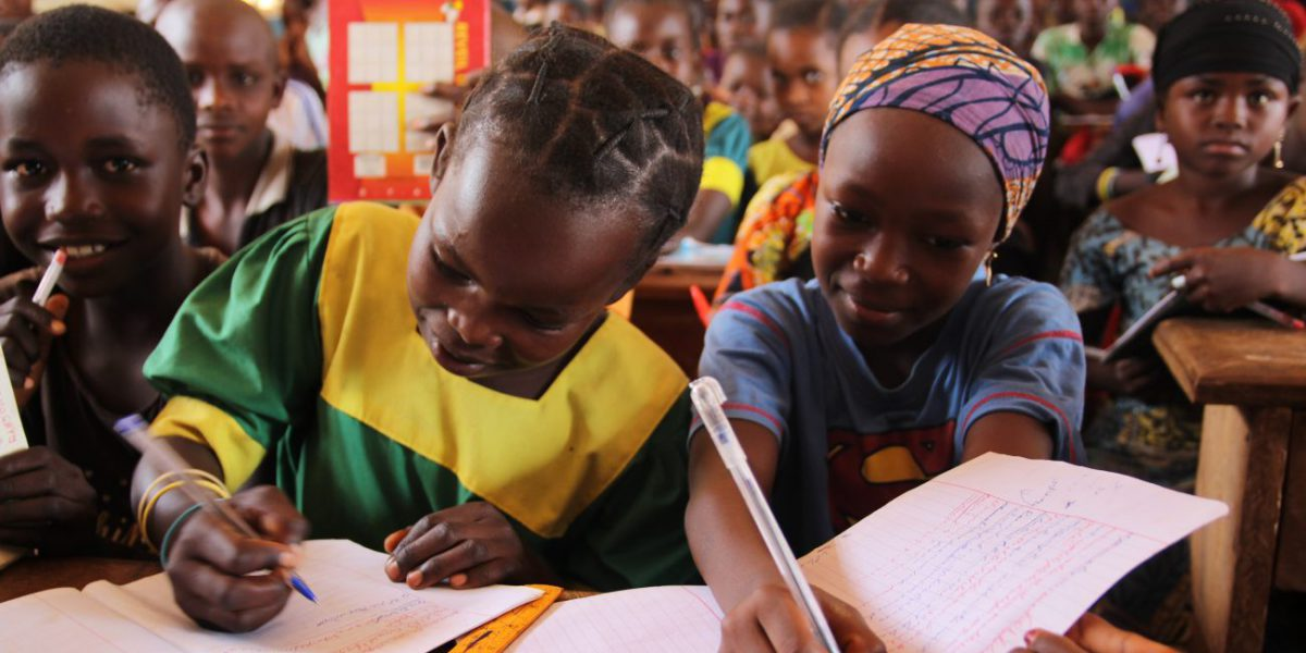 Young refugees attend school in CAR.