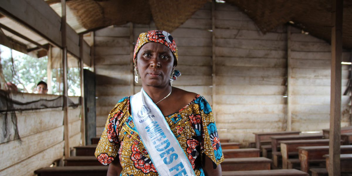 Dae is a refugee living in Cameroon. She has been elected president of the Gado Women's Association.