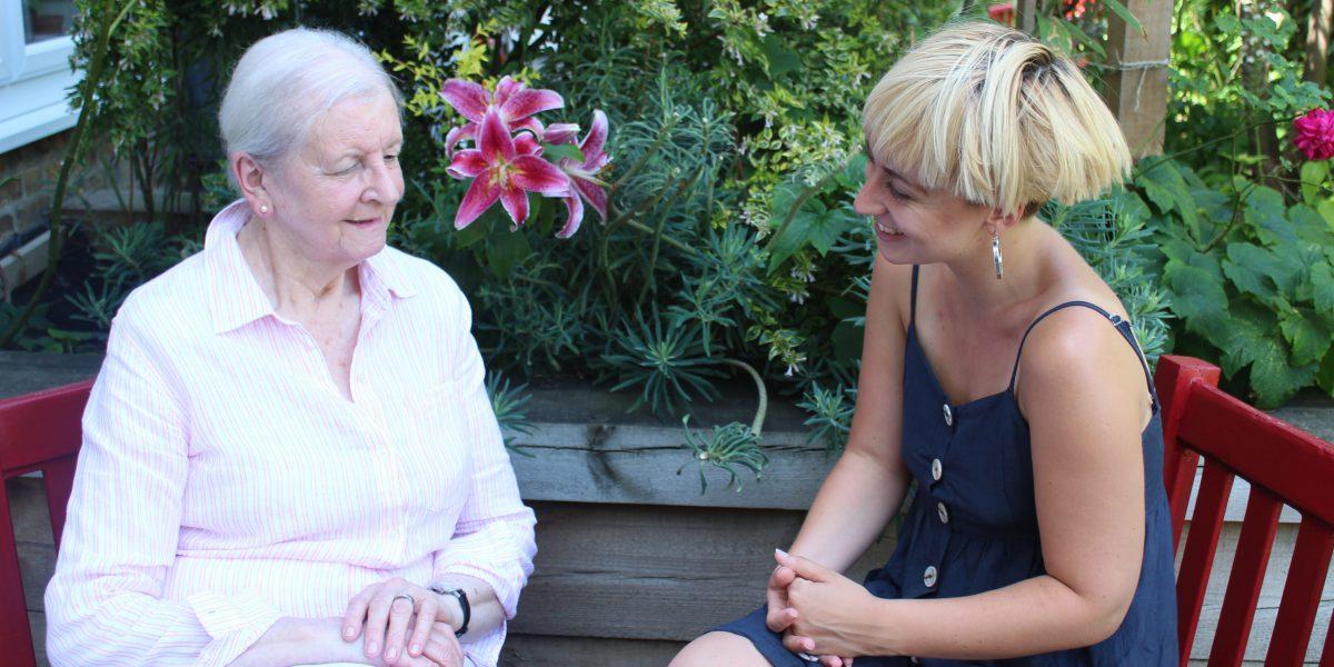 Nora and Naomi, hosting scheme co-ordinator at JRS UK.