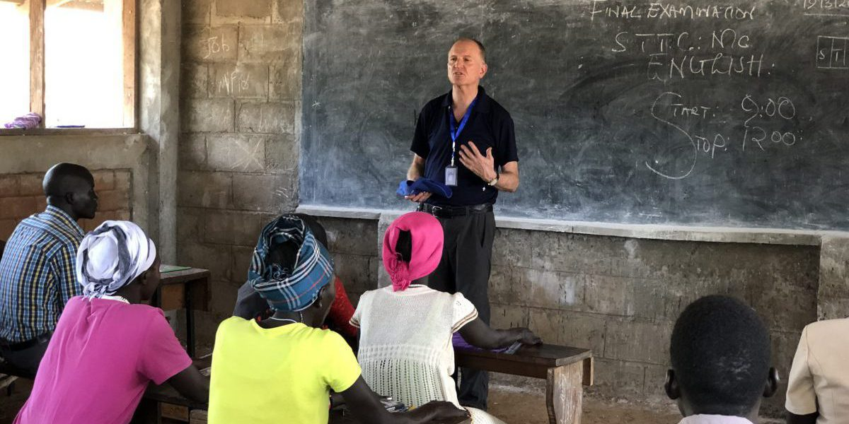 JRS International Director visiting our projects in South Sudan. (Jesuit Refugee Service)