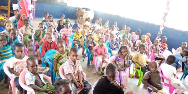 Children at the JRS Community Pre-school Centers in Gado 3, East Cameroon.