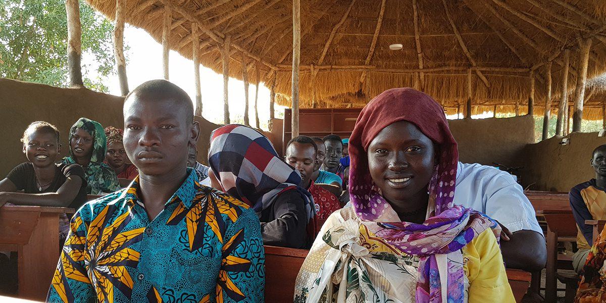 Students at the JRS Education Unit, Maban, South Sudan. (Susan Cahills)