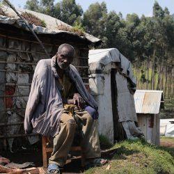 Internally displaced man in Masisi, DRC.
