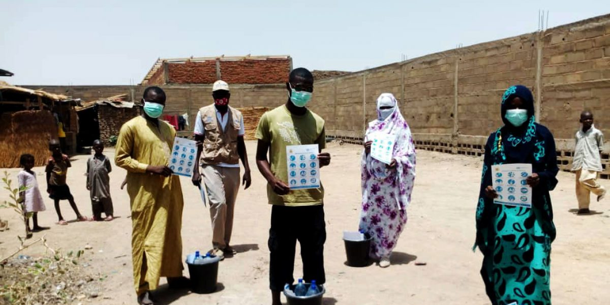Posters and information materials have been disseminated to raise awareness around the virus and social distancing.