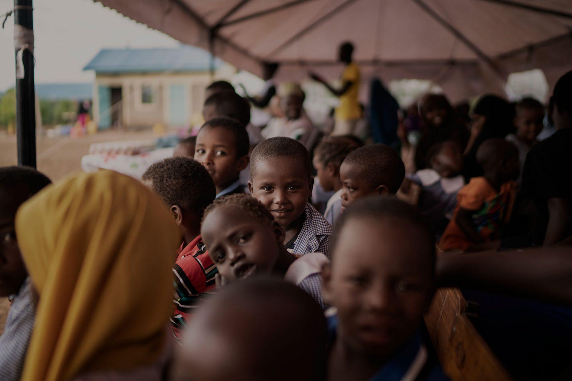 Refugee children in Kakuma camp, Kenya
