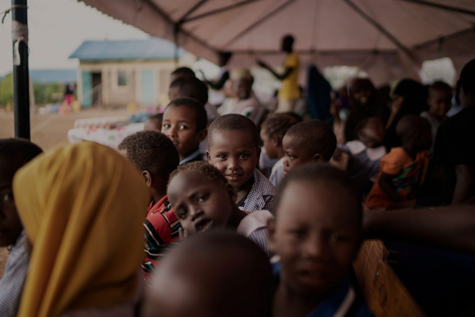 Refugee children in Kakuma camp, Kenya