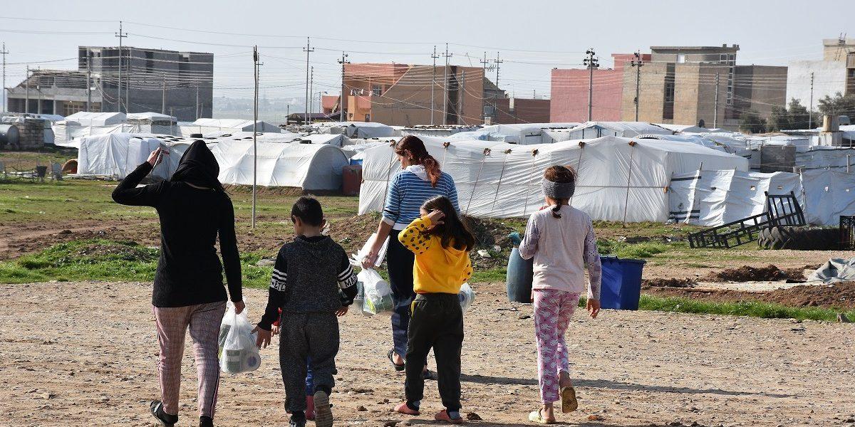 Internally displaced families living in Sharya, Duhok, northern Iraq.