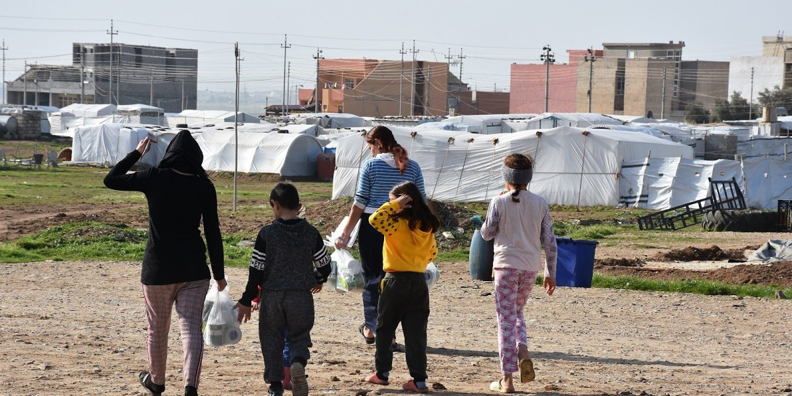 Internally displaced families living in Sharya, Duhok, northern Iraq.