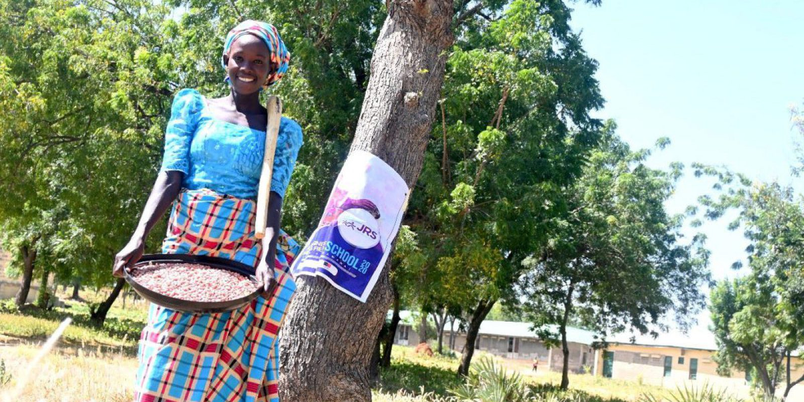 After partecipating at the Farmers Field and Business School programme by JRS Nigeria, Sarah has improved her source of livelihood and can sustain her family.