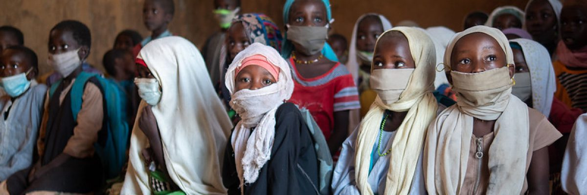 School during COVID-19 in Kounoungou refugee camp, Guereda, Chad.