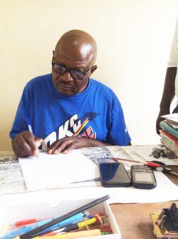Noël Ntungwanayo. The Director of the Ephphatha boarding school.