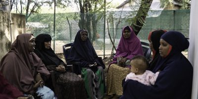 A group of single mothers attending a weekly JRS counseling session. (Photos: Fredrik Lerneryd)