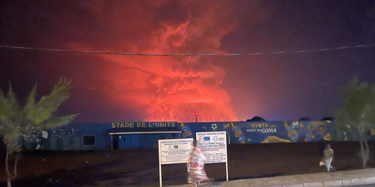 Erupción del Monte Nyiragongo en Goma. (Jesuit Refugee Service)